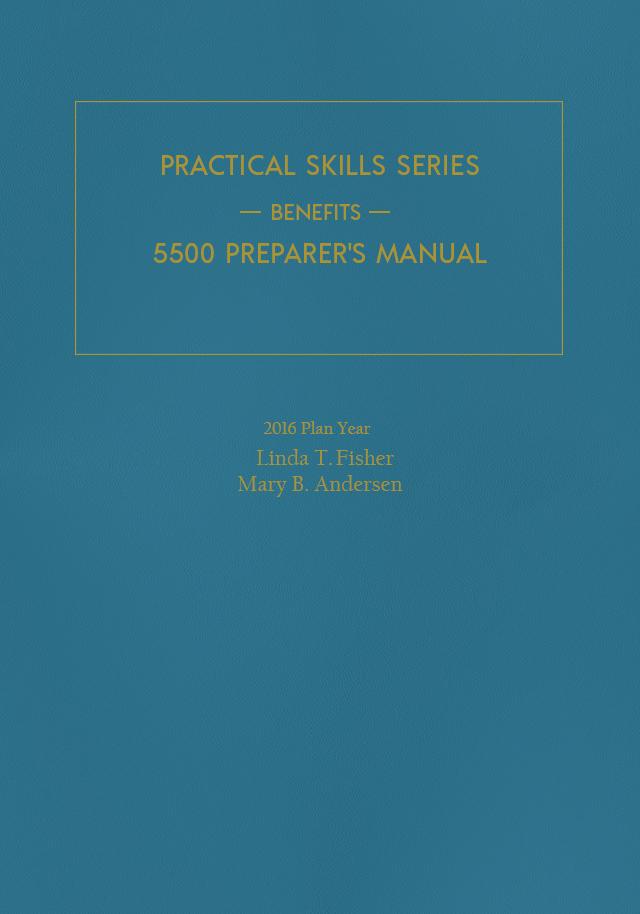 5500 Preparers Manual For 2016 Plan Years Fastcase