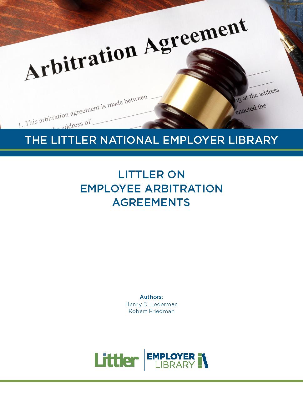 Littler On Employee Arbitration Agreements Fastcase