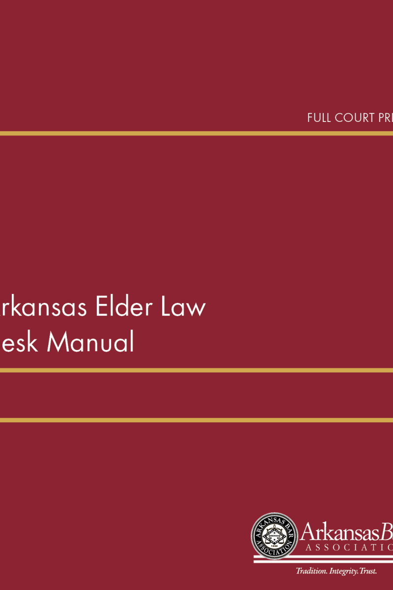 cover_arkansas elder law desk manual