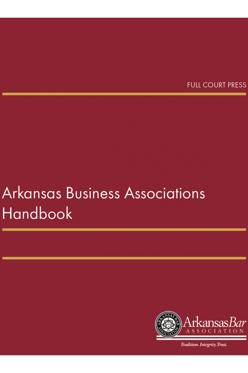 front cover_arkansas business associations handbook