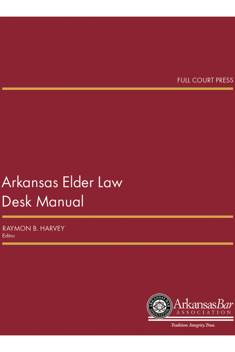 front cover_arkansas elder law desk manual