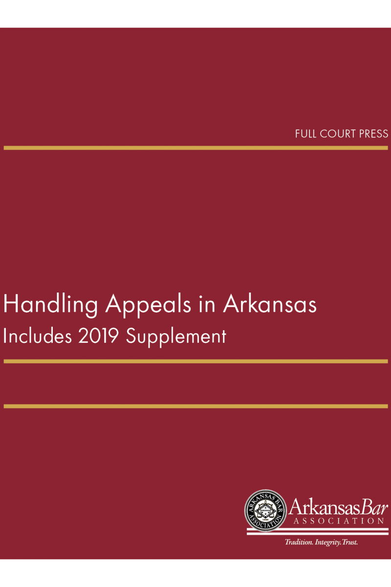 front cover_handling appeals in arkansas