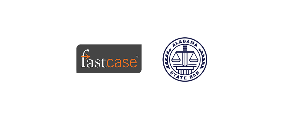 Alabama State Bar and Fastcase Logo