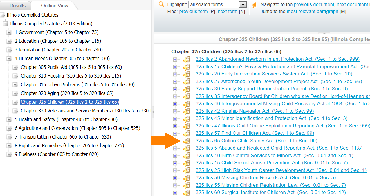 ILCS Chapter 325 2013: Children